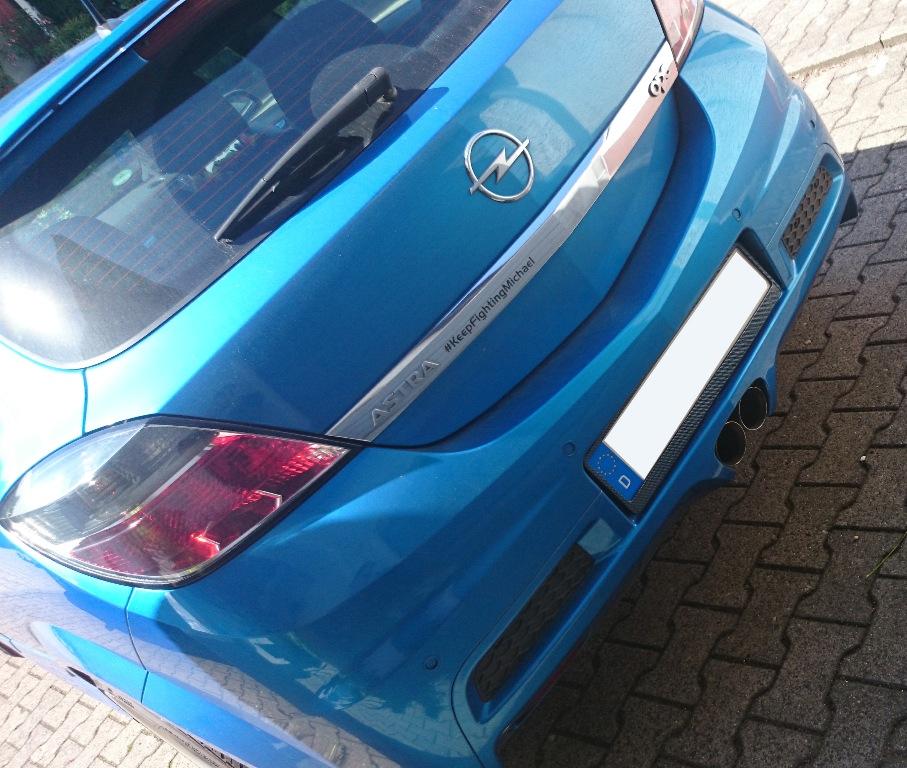 Friedrich Motorsport Sportauspuff Mittig Opel Astra H Gtc